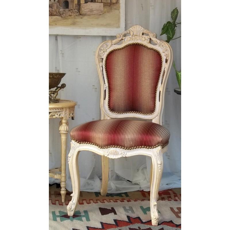 Lot 6 Chaises Baroque Style Louis XV - Les Meubles Nayar