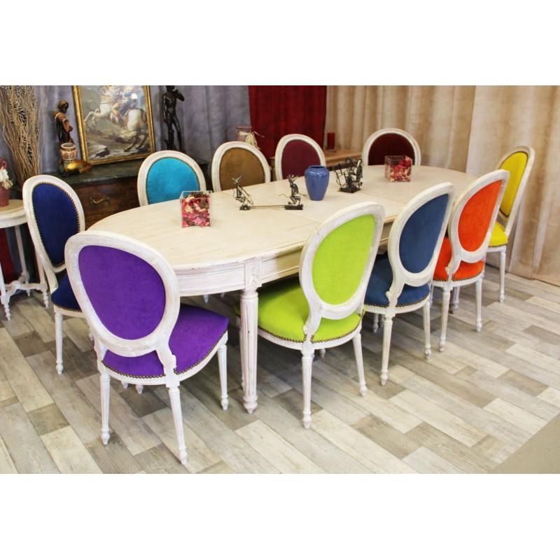 Table ovale de style louis xvi sur mesure avec 30 teintes for Table de salle a manger style baroque