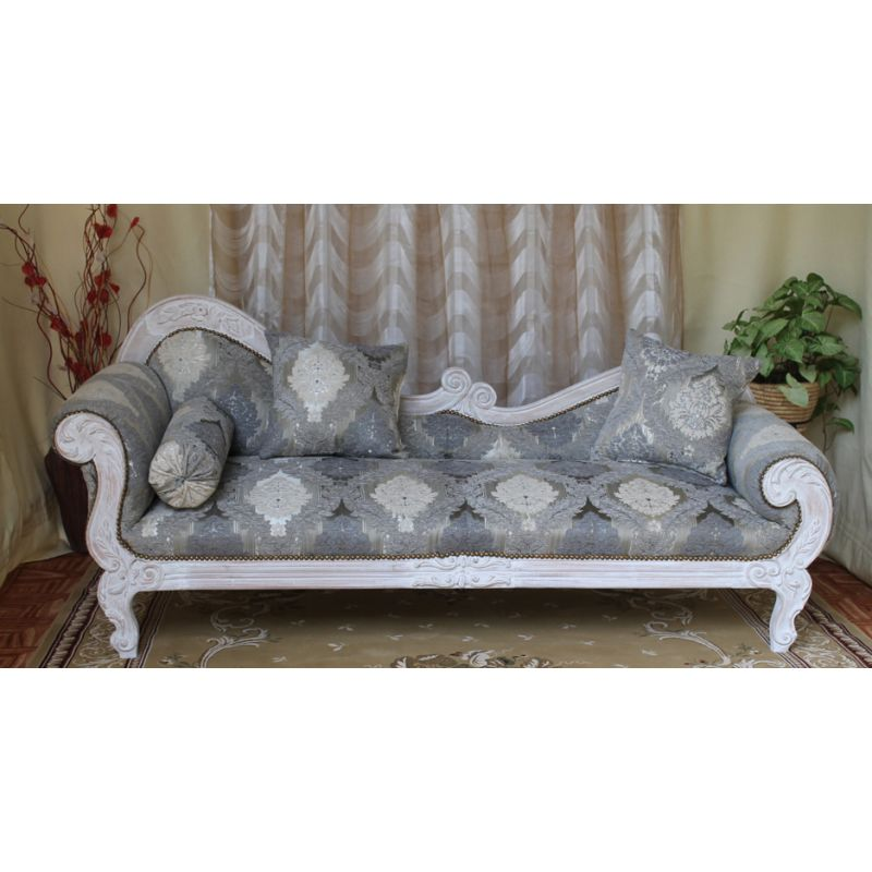 Meridienne vague de style baroque louis xv 220cm nayar france - Meridienne style baroque ...