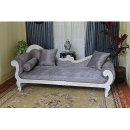 Meridienne vague de style baroque louis xv 217cm nayar france - Meridienne style baroque ...