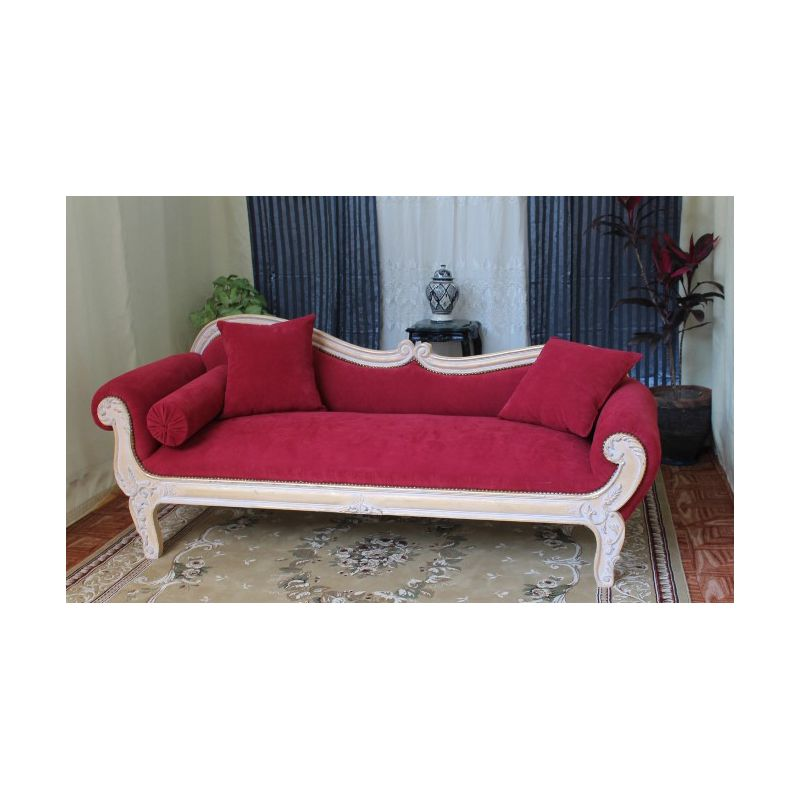 Meridienne vague de style baroque louis xv 219cm nayar france - Meridienne style baroque ...