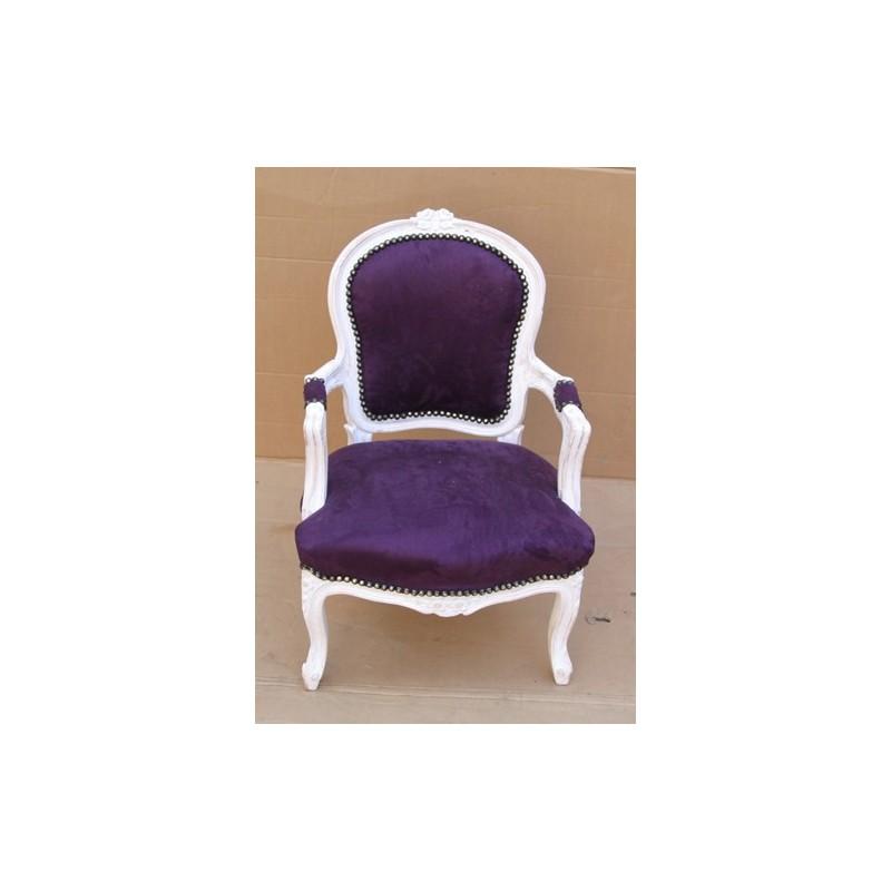 un fauteuil cabriolet louis xv enfant 80 couleurs. Black Bedroom Furniture Sets. Home Design Ideas
