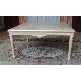 Table Basse Carre Style Louis XVI - 55 cm - Couleurs de bois sur Mesure