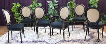 chaise medaillon blanc noir