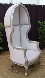 fauteuil carrosse blanc argent cuir