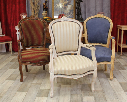 fauteuils cabriolet style louis XV nayar