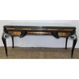 Bureau noir de Style Louis XV - 190cm