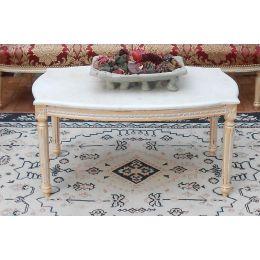 Table Basse de Style Louis XVI 94cm - Couleurs de bois et marbres sur Mesure
