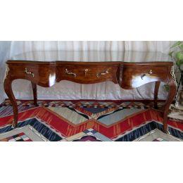 Bureau 190cm Style Louis XV - Marqueterie