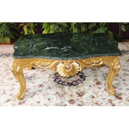 Table Basse Baroque - 75cm - Couleurs de bois et marbres sur Mesure