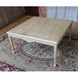 Table Basse Carre Style Louis XVI - 65 cm - Couleurs de bois sur Mesure