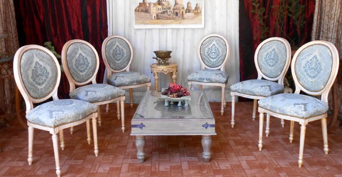 chaises medaillon style louis XVI